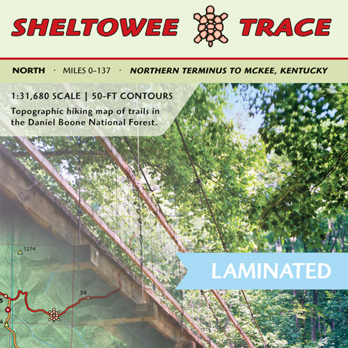 Sheltowee Trace North Trail Map